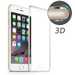 iPhone 7 / 8 HAT PRINCE Beskyttelsesglas Full Coverage 3D med Alu Kant - Guld