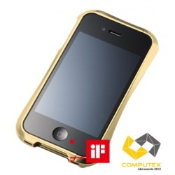 DRACO IV ALUMINUM BUMPER for iPhone 4/4S-GOLD