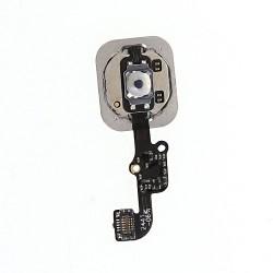 Apple iPhone 6 iPhone 6 Plus Home Button med flex kabel Hvid/Sølv