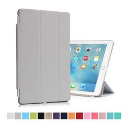 """iPad Pro 9,7"""" Tri-Fold Stand Smart Folio PU Læder Cover - Grå"""