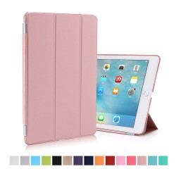 "Apple iPad Pro 9,7"" Tri-Fold Stand Smart Folio PU Læder Cover Rosa Guld"