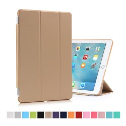 "iPad Pro 9,7"" Tri-Fold Stand Smart Folio PU Læder Cover - Guld"
