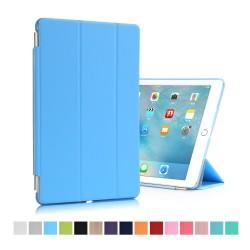 """iPad Pro 9,7"""" Tri-Fold Stand Smart Folio PU Læder Cover - Lyseblå"""