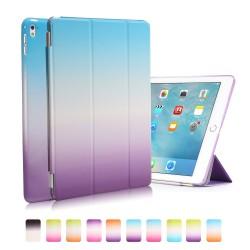 "Apple iPad Pro 9,7"" REGNBUE Tri-Fold Stand Smart Folio PU Læder Cover Blå Lilla"
