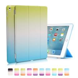 """Apple iPad Pro 9,7"""" REGNBUE Tri-Fold Stand Smart Folio PU Læder Cover Grøn Blå"""