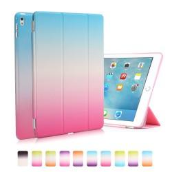 "Apple iPad Pro 9,7"" REGNBUE Tri-Fold Stand Smart Folio PU Læder Cover Blå Pink"