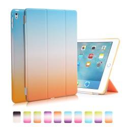 "Apple iPad Pro 9,7"" REGNBUE Tri-Fold Stand Smart Folio PU Læder Cover Blå Orange"