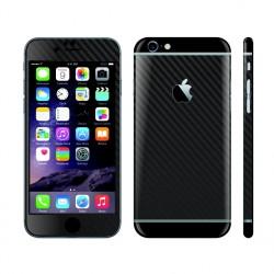 Apple iPhone 6S 3D BLACK Carbon + BLACK Matt Skin