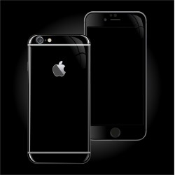 Apple iPhone 6S LUXURIA High Gloss JET BLACK Skin