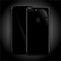 Apple iPhone 7 PLUS LUXURIA High Gloss JET BLACK Skin