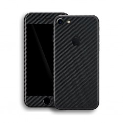Apple iPhone 7 3D Textured CARBON Fibre Skin Sort