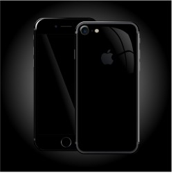 Apple iPhone 7 LUXURIA High Gloss JET BLACK Skin Sort