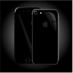 Apple iPhone 7 LUXURIA High Gloss JET BLACK Skin Sort