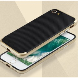 Apple iPhone 7 TOTU Carbon Fiber PC + TPU Hybrid Shell Cover Guld
