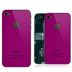 iPhone 4S Back Cover Glass With Black Supporting Frame - Purple