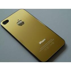 Apple iPhone 4 Bag Glas Børstet Stål Guld