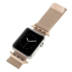 Apple Watch 42 mm Serie 1 Serie 2 MILANESE Rustfri Stål Urrem Rosa Guld