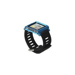Aluminum Bracelet Watch Band Wrist Cover Case for iPod Nano 6 / 7 - Blue