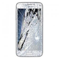 SAMSUNG GALAXY S5 LCD Display og Glas Reparation Hvid