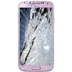 SAMSUNG GALAXY S4 I9505 LCD Display og Glas Reparation Pink