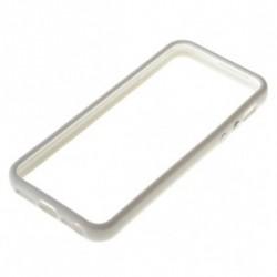 Plastik Bumper med knapper til iPhone 5 - HVID