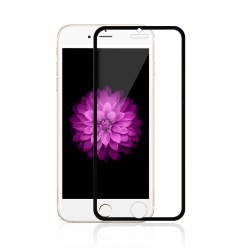 iPhone 6 / 6S / 7 / 8 Beskyttelsesglas Full Coverage 0,3mm - Sort