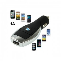BMW Logo Multifunktion USB Bil Oplader til iPhone 5S & 5C & 5 / iPhone 4 & 4S  / iPhone 3G & 3GS