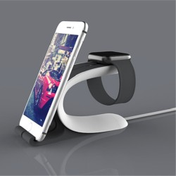 LOCA Mobius Oplader Holder til Apple Watch iPhone iPad iPod Samsung m.fl. Sort