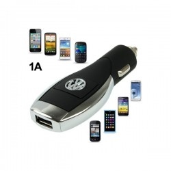 VW Logo Multifunktion USB Bil Oplader til iPhone 5S & 5C & 5 / iPhone 4 & 4S  / iPhone 3G & 3GS
