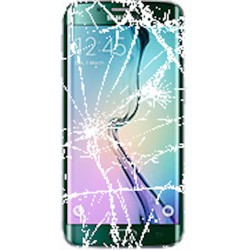 SAMSUNG GALAXY S6 Edge LCD Display & Touch Screen inkl. Ramme Reparation Grøn