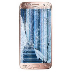 SAMSUNG GALAXY S7 LCD Display & Touch Screen Reparation Pink