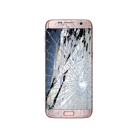 SAMSUNG GALAXY S7 Edge LCD Display & Touch Screen inkl. Ramme Reparation Rosa Guld