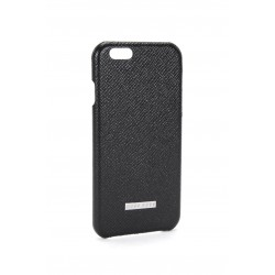 iPhone 6 Plus iPhone 6S Plus HUGO BOSS Palmelatto Læder Cover 'Signature' Sort
