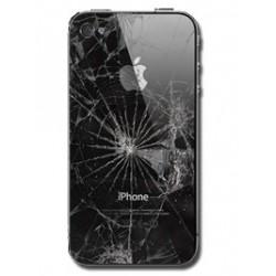 Udskiftning af iPhone 4 Sort Bagcover Glas