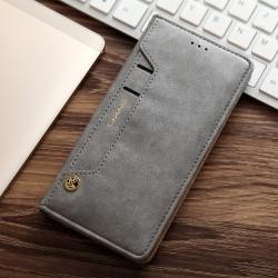 Samsung Galaxy S7 G930 CMAI2 Læder Cover Folio Flip Grå