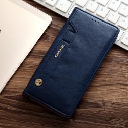 Samsung Galaxy S7 G930 CMAI2 Læder Cover Folio Flip Mørke blå