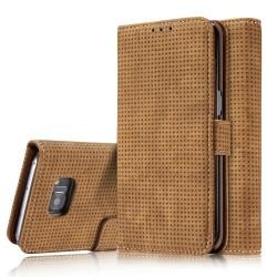 Samsung Galaxy S7 G930  Retro Wallet Læder Cover Brun