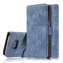 Samsung Galaxy S7 G930  Retro Wallet Læder Cover Blå