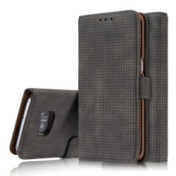 Samsung Galaxy S7 G930  Retro Wallet Læder Cover Grå