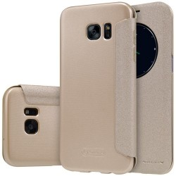 Samsung Galaxy S7 Edge G935  NILLKIN Sparkle Series Læder Cover Grå