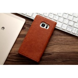 Samsung Galaxy S7 Edge G935 CMAI2 Læder Cover med Kort holder  Brun