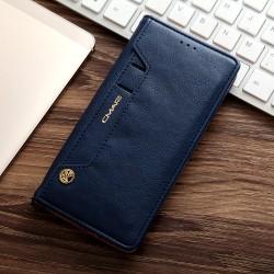 Samsung Galaxy S7 Edge G935 CMAI2 Læder Cover med Kort holder Mørke Blå