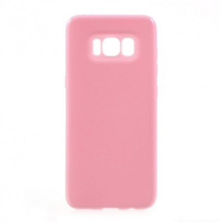 Samsung Galaxy S8 SM-G950 Glossy Plastik Cover Lyserød