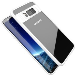 Samsung Galaxy S8 G950 IPAKY Plastik Ramme med Silikone Cover Hvid
