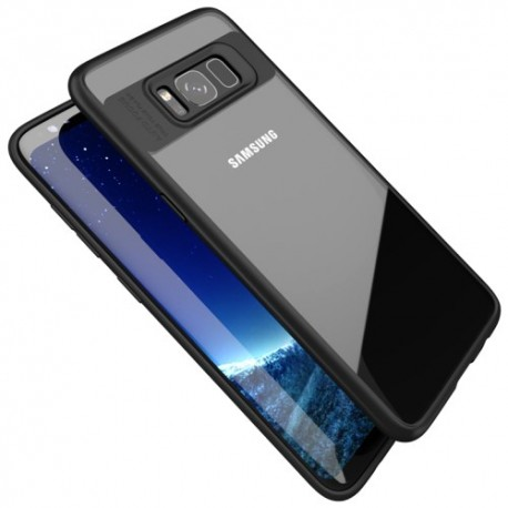 Samsung Galaxy S8 G950 IPAKY Plastik Ramme med Silikone Cover Sort