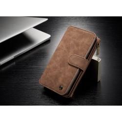 Samsung Galaxy S8+ G955 Læder Etui Bag Cover 2-I-1 Brun