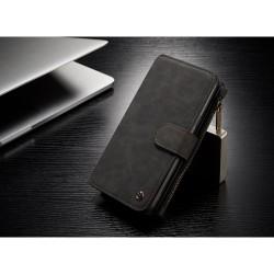 Samsung Galaxy S8+ G955 Læder Etui Bag Cover 2-I-1 Sort