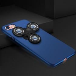 iPhone 7 Matte Med Removable Tri-Spinner Fidget Spinner Blå