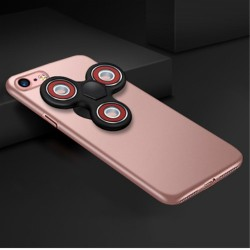 iPhone 7 Matte Med Removable Tri-Spinner Fidget Spinner Roseguld