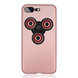 iPhone 7 Plus Matte Med Removable Tri-Spinner Fidget Spinner Roseguld